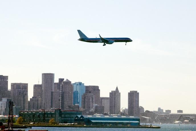 Airline over Boston