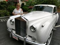 Rolls Royce and bride